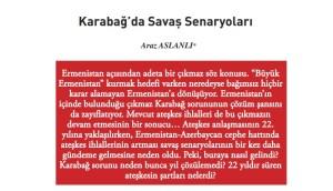 Araz Aslanli 21 YY Dergisinde Qarabag meqalesi 2016 Aprel  2