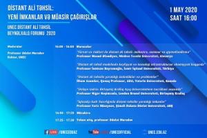 """UNEC Distant Ali Təhsil Beynəlxalq Forumu 2020: """"Distant ali təhsil: Yeni imkanlar və müasir çağırışlar"""""""